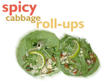 Spicy cabbage roll-ups