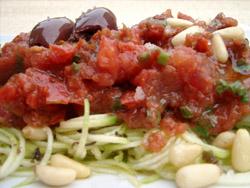 Courgetti and rawgu