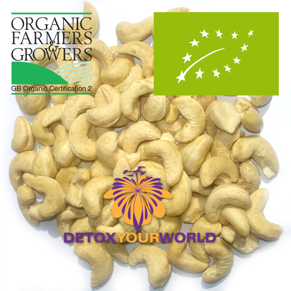 Cashew nuts, organic, raw