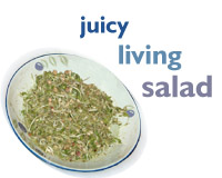 Juicy living salad