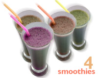4 smoothies