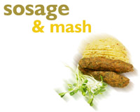 Sosage and mash