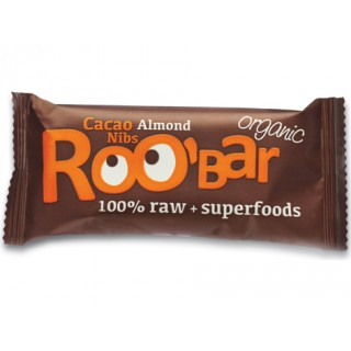 Roo Bar Cacao Nibs & Almonds