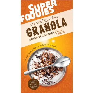 Superfoodies Brown Granola - Cacao Nibs and Maca