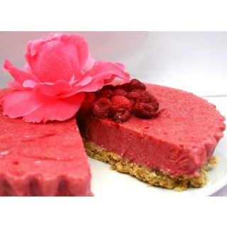 Raw Cranberry and Raspberry Pie