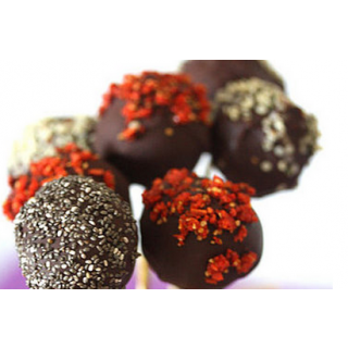 Mulberry and Chocolate Lollipops