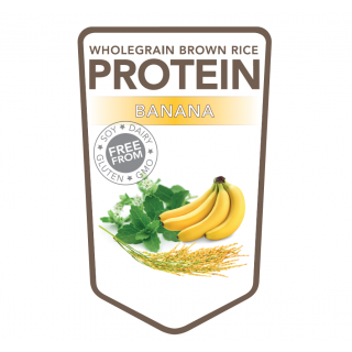 Brown rice protein powder banana – 500 grams (Superfoodies)