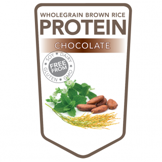 Brown rice protein powder chocolate – 500 grams (Superfoodies)