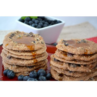 Raw Coconut and Blueberry Pancakes