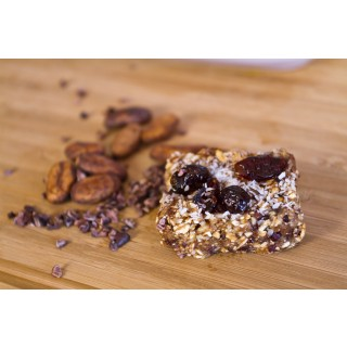 Raw Chocolate Cherry Breakfast Bars
