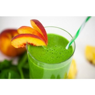 Wheatgrass and Peach Smoothie
