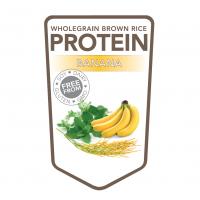 Brown rice protein powder banana – 500 grams (Superfoodies)